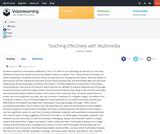 Teaching Effectively with Multimedia