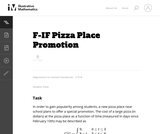 Pizza Place Promotion