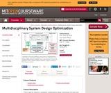 Multidisciplinary System Design Optimization, Spring 2010