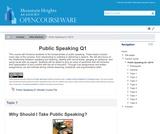 Public Speaking Q1