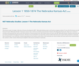 Lesson 1 1850-1874 The Nebraska Kansas-Act