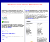 Online Statistics: An Interactive Multimedia Course of Study