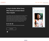 A Guy's Guide: What Every Man Needs to Know About Their Health