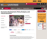 Economic Development, Policy Analysis, and Industrialization, Fall 2004
