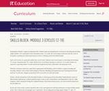 Grade K: Reading Foundations Skills Block: Module 3