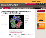 Foundations of Algorithms and Computational Techniques in Systems Biology, Spring 2006