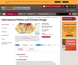 International Politics and Climate Change, Fall 2007