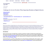 Challenges for Service Providers When Importing Metadata in Digital Libraries