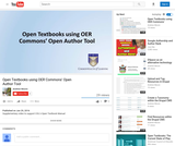 Open Textbooks using OER Commons Open Author Tool