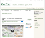 Energy 2: The Global Energy Picture: A Closer Look