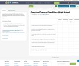 Creative Fluency Checklist—High School