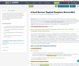 A Good Review- English Template, Novice Mid