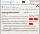 Teaching Children With Developmental Disabilities