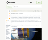Earth System: Satellites