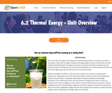 6.2 Thermal Energy