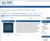 Political and Cultural Identity in Postwar Japan