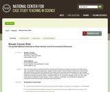 Breast Cancer Risk: Using Real Medical Histories to Rank Genetic and Environmental Influences