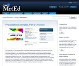 Precipitation Estimates, Part 2: Analysis