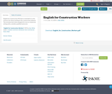 English for Construction Workers