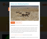African Lions: Modeling Populations