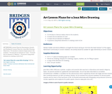 Art Lesson Plans for a Joan Miro Drawing