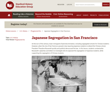 Reading Like a Historian: Japanese Segregation in San Francisco