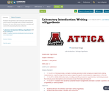Laboratory Introduction:  Writing a Hypothesis