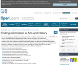 FInding Information in Arts and History
