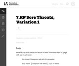 Sore Throats, Variation 1