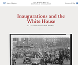 Inaugurations and the White House: Classroom Resource Packet