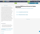 Creating OER (Postcard format for Higher Education)