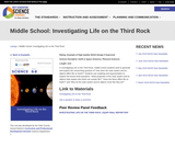 Middle School: Investigating Life on the Third Rock
