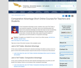 Comparative Advantage Short Online Courses for Teachers and Students