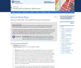 Planning GIS for Emergency Management