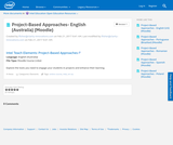 Project-Based Approaches - English (Australia) (Moodle)