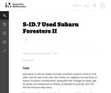 S-ID.7 Used Subaru Foresters II
