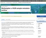 BioSamples: a FAIR sample metadata archive