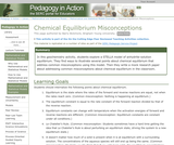 Chemical Equilibrium Misconceptions