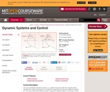 Dynamic Systems and Control, Spring 2011