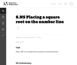 8.NS Placing a square root on the number line