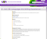 K-Act. 08: Language Arts Writing Experience