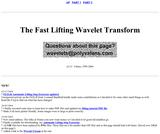 The Fast Lifting Wavelet Transform