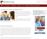 Adapting to a School Change for Children