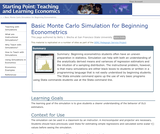 Basic Monte Carlo Simulation for Beginning Econometrics