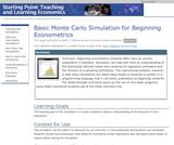 Basic Monte Carlo Simulation for Beginning Econometrics