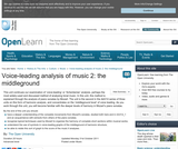 Voice-Leading Analysis of Music 2: The Middleground