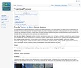 Teaching Process Activity from ISKME's Teacher Academy