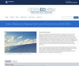 Solar Resource Assessment and Economics