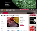 Micro/Nano Processing Technology, Fall 2005