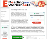 Ereading Worksheets